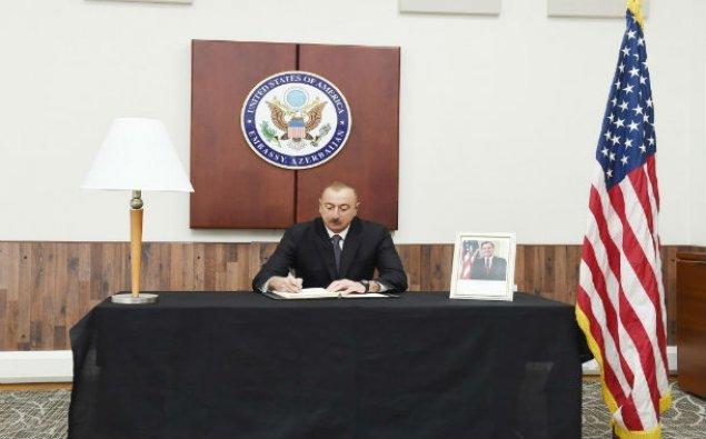 Prezident İlham Əliyev ABŞ səfirliyində - YENİLƏNİB/ Foto