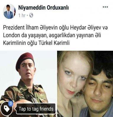 İlham Əliyevin oğlu ilə Əli Kərimlinin oğlunun fərqi – Foto