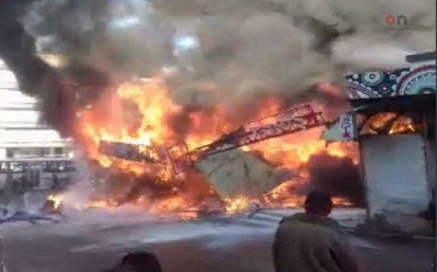 BNA: Yanğınla əlaqədar Qara Qarayev prospektində nəqliyyatın hərəkəti məhdudlaşdırılıb