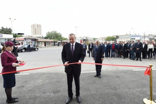 Prezident Sabunçu dəmir yolu vağzalı kompleksinin açılışında iştirak edib – FOTOLAR