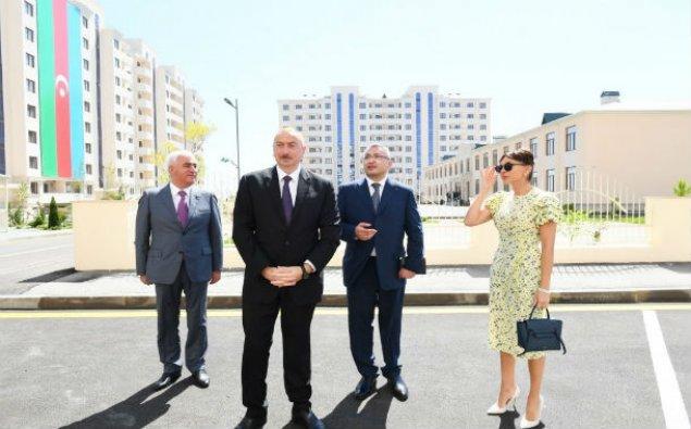 Prezident yeni yaşayış kompleksinin açılışında iştirak edib - YENİLƏNİB/FOTOLAR
