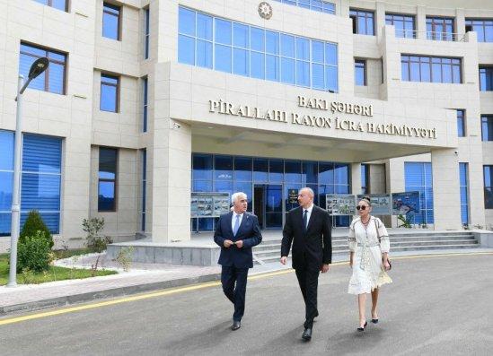 İlham Əliyev Pirallahı İH-in yeni inzibatı binasının açılışında - YENİLƏNİB/FOTOLAR