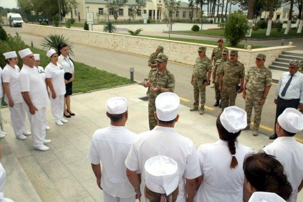 Müdafiə naziri yeni tikilən hərbi hospitalın açılışında olub – FOTO