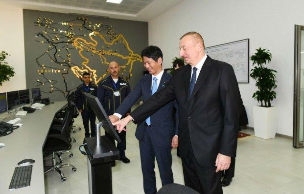 """Prezident """"Şimal-2"""" elektrik stansiyasının açılışında - FOTO - YENİLƏNİB"""
