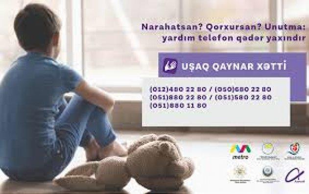 """""""Azercell""""in dəstəklədiyi """"Uşaq Qaynar Xətt"""" xidmətinə 1547 müraciət daxil olub"""