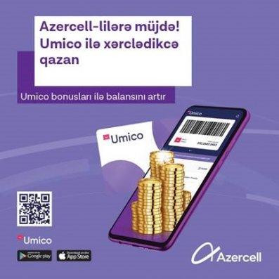 Umico ilə alış-veriş edərək Azercell nömrənizin balansını artırın!