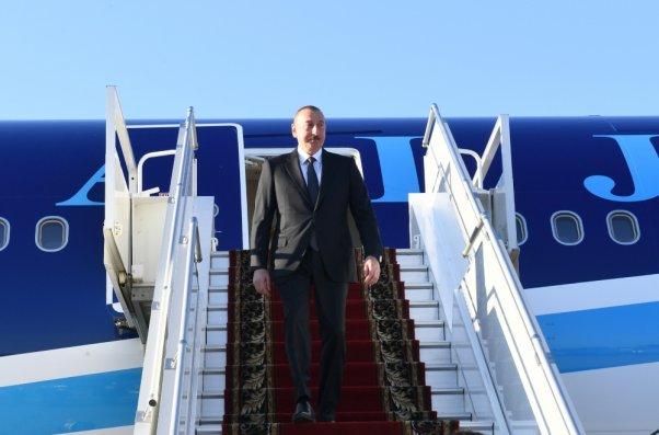 Prezident İlham Əliyev Rusiyada işgüzar səfərdədir – FOTO