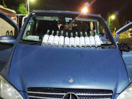 Gürcüstandan Azərbaycana qanunsuz yolla keçirilən spirtli içkilər aşkarlandı