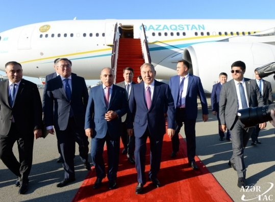 Nursultan Nazarbayev Azərbaycana gəlib