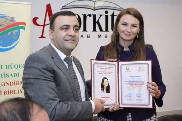 """Millət vəkili Qənirə Paşayevaya """"Fəxri diplom"""" təqdim edildi – FOTO"""