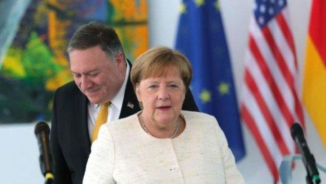 Pompeo və Merkel qlobal çağırışlara qarşı birgə mübarizəni müzakirə ediblər