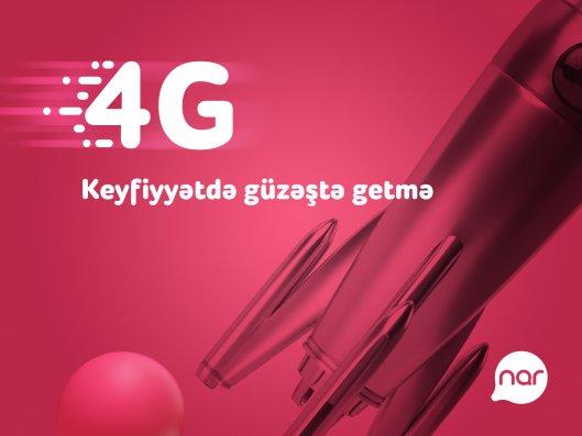 """Regionlarda 4G """"Nar"""" şəbəkəsindən istifadə edənlərin sayı iki dəfə artıb"""