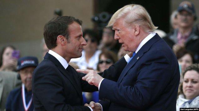 Donald Tramp Fransa prezidentini tənqid edib