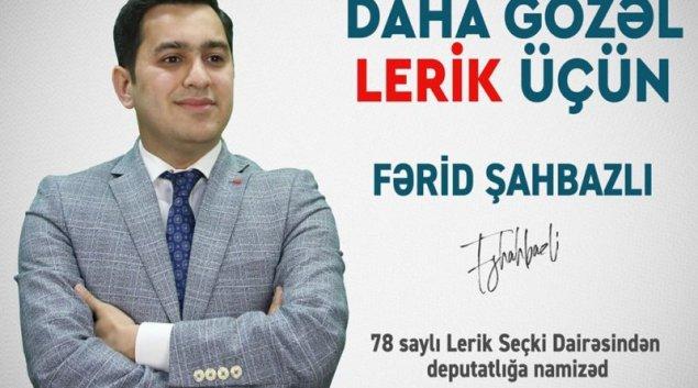 """Fərid Şahbazlı leriklilərə müraciət etdi: """"Deputatın qəbul günü"""" anlayışını birlikdə yox edəcəyik!"""