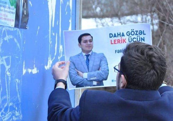 Lerikdən deputatlığa namizəd Fərid Şahbazlı qapı-qapı seçicilərlə görüşür - FOTOLAR