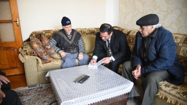 Elnur Abbaszadə Sumqayıtın 92 yaşlı sakini ilə görüşdü -Video -Fotolar