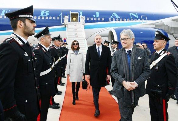 Azərbaycan Prezidenti İtaliyada səfərdədir – FOTO