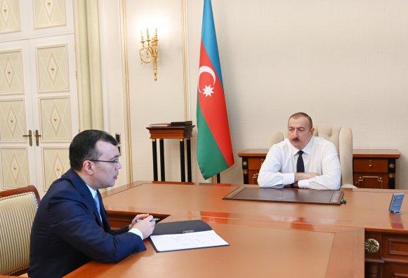 Prezident nazir Sahil Babayevi qəbul edib