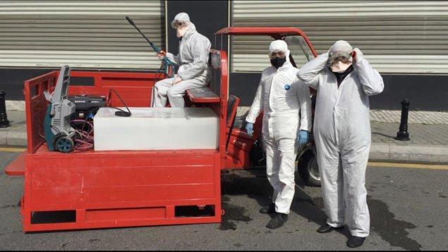 Nəsimi rayonu ərazisində dezinfeksiyaedici tədbirlər davam etdirilir