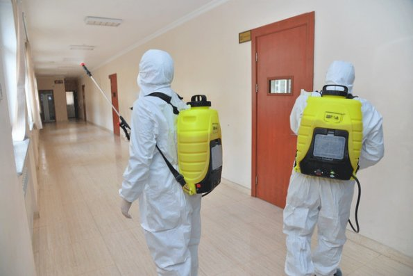 Bakıda insanların sıx toplaşdığı ərazilərdə dezinfeksiya işləri aparılır