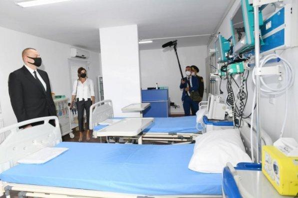 Prezident və birinci xanım Bakıda modul tipli hospitalın açılışında iştirak etdilər  — FOTO