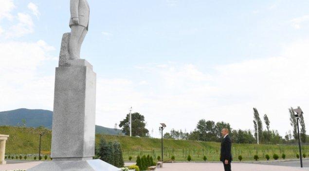 Prezident İlham Əliyev Şəkidə səfərdədir