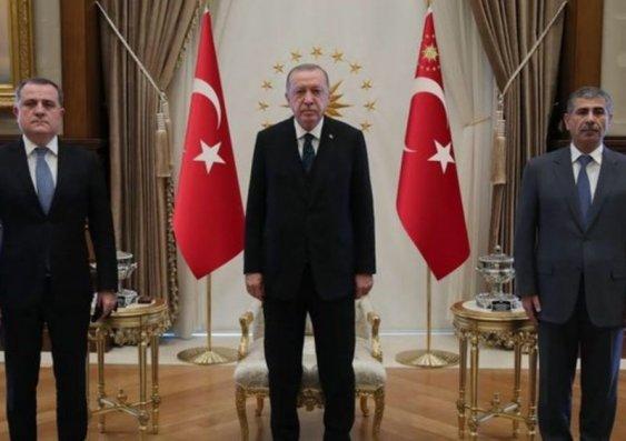 Türkiyə Prezidenti Ceyhun Bayramov və Zakir Həsənovu qəbul etdi