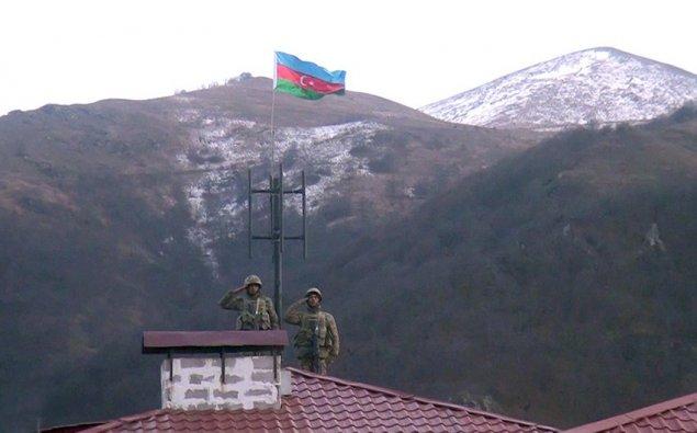 Azərbaycan bayrağı işğaldan azad olunan Kəlbəcərdə   — VİDEO