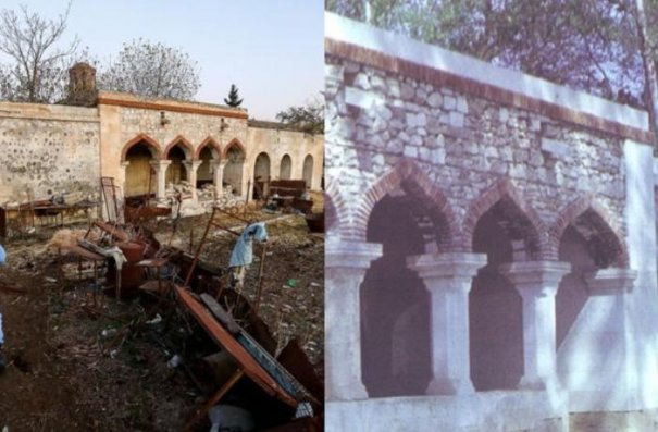 Ağdamda Pənahəli xan sarayı erməni işğalından əvvəl və sonra...— FOTOLAR