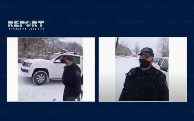Azərbaycan polisləri Kəlbəcərdədir  — VİDEO