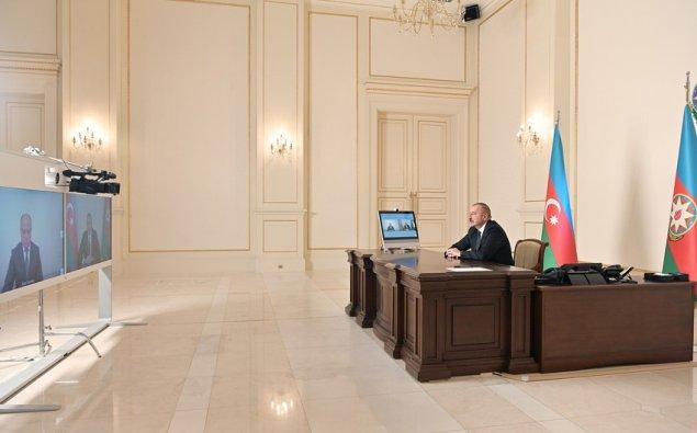 Prezident İlham Əliyev Anar Kərimovu videoformatda qəbul edib