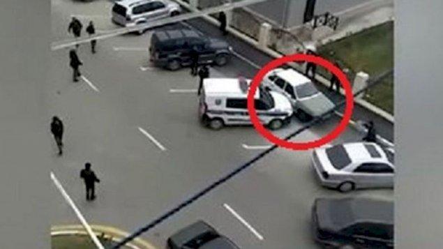 Bakıda polis qaçan şəxsə atəş açdı - VİDEO