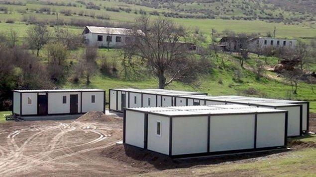Qarabağda modul tipli yataqxanalar quraşdırılır (VİDEO)