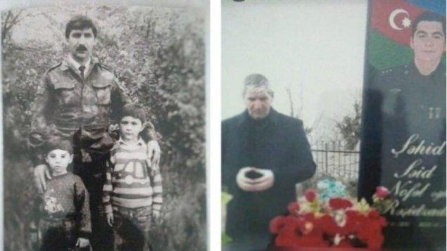 Keçmiş icra başçısı oğlunun şəhid olduğu yüksəkliyə bayraq sancdı