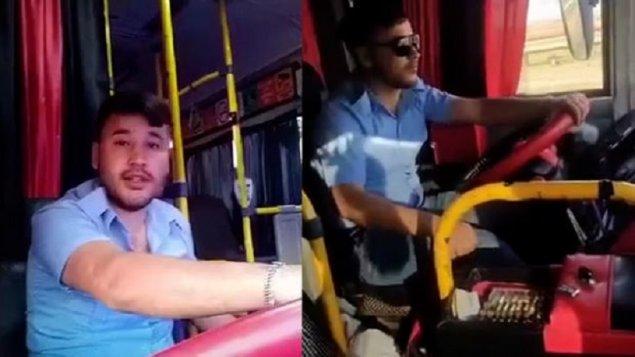 """Sükan arxasında """"TikTok"""" çəkən sürücü işdən azad edildi (VİDEO)"""