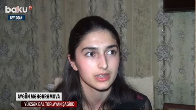 Beyləqan sakini buraxılış imtahanlarında ən yüksək bal topladı (VİDEO)