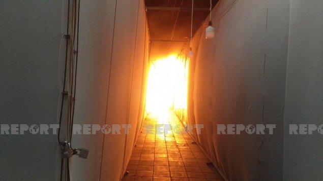 Bərdədə güclü yanğın: Bazar yandı (FOTO/VİDEO)