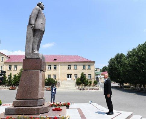 Prezident İlham Əliyev Daşkəsəndə səfərdədir (FOTOLAR)