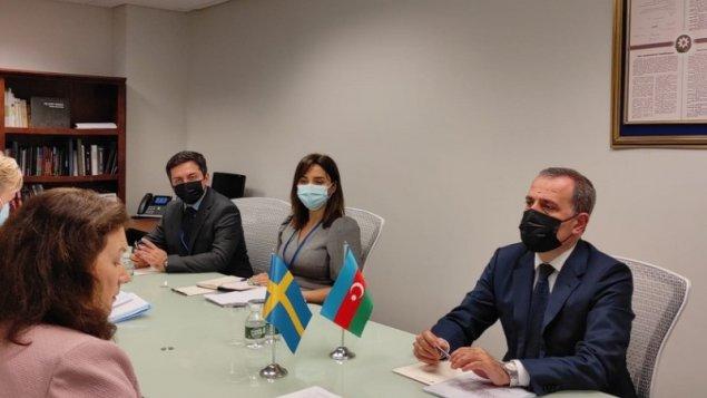 Ceyhun Bayramov ATƏT sədri ilə görüşdü (FOTO)