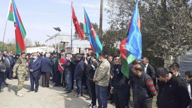 Vətən müharibəsi şəhidi Goranboyda dəfn edildi (FOTOLAR)